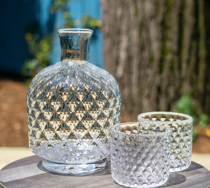 Decanters in the sun